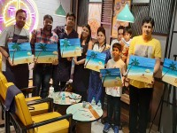 Painting Party for Teenagers
