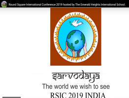 Round Square International Conference 2019 hosted by The Emerald Heights International School.